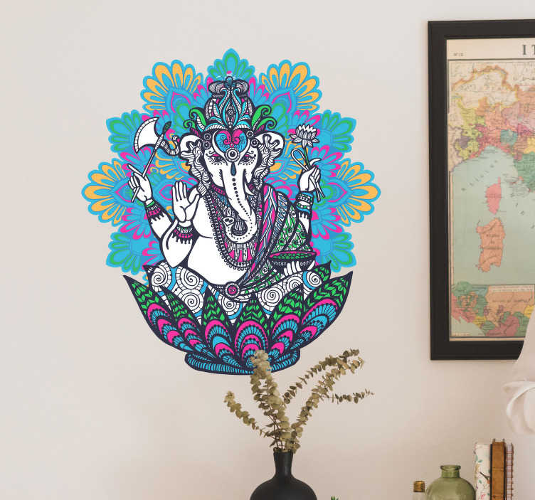 TenStickers. Hindu Elephant Wall Sticker. Decorate your wall with this fantastic hindu themed sticker! Sign up for 10% off.