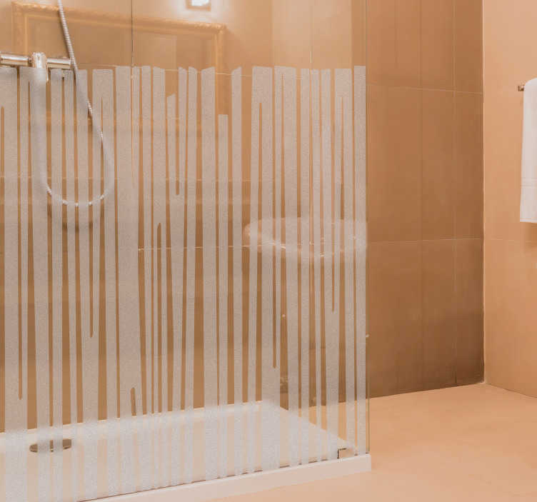 TenStickers. Vitrophanie Motifs Linéaires pour Paroi Douche. Découvrez notre sticker douche opaque créé tout spécialement pour la paroi de douche votre salle de bain. Service Client Rapide.