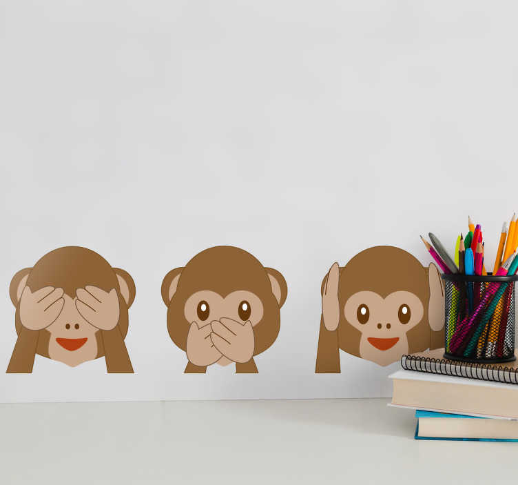 TenStickers. Monkey Emojis Wall Sticker. Decorate your home with emojis and this fantastic wall sticker! Available in 50 colours.