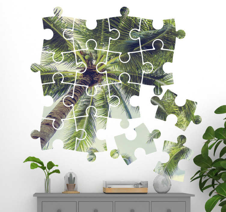 TenStickers. Sticker Original Photo Puzzle Personnalisé. Personnalisez vos murs avec votre photo en puzzle avec notre sticker maison pour la chambre de votre enfant et pour créer un espace personnel personnalisé pour lui. Prix Imbattables.