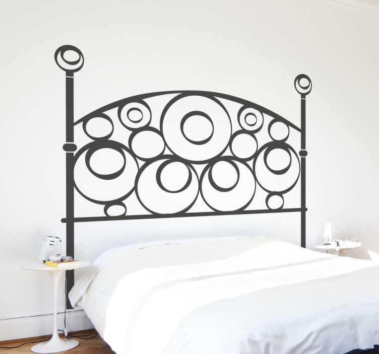 TenStickers. Wandtattoo Ornament. Mit diesem Ornament Sticker in Form von Kreisen können Sie Ihren Schlafplatz verschönern und zu einem Hingucker machen.