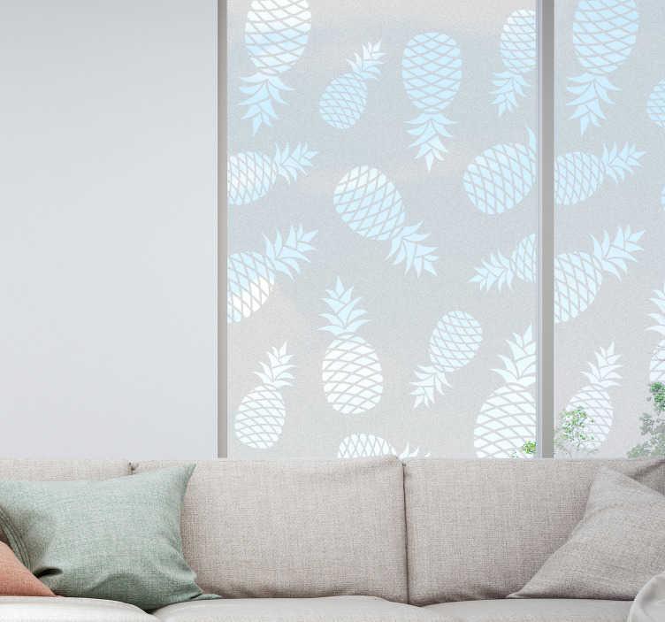 TenStickers. Pineaples水果贴纸的图案. 一个非常优雅的贴纸,以重新装饰你的墙壁
