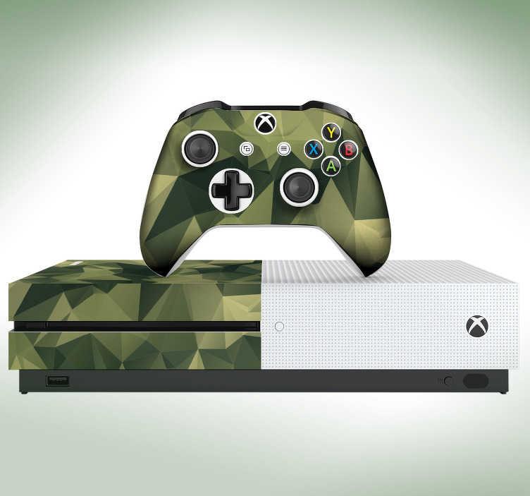 TenVinilo. Vinilo con textura camuflaje. Original vinilo adhesivo para Xbox y controladores con estampado de camuflaje de estilo geométrico. Vinilos Personalizados a medida.