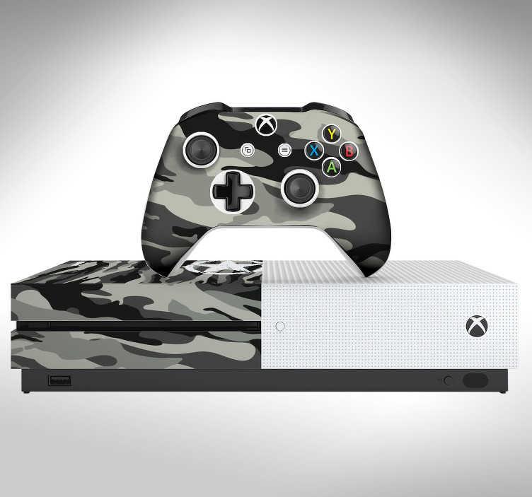 TenStickers. Sticker Texture Camouflage Urbain. Découvrez comment décorer votre console Xbox One ou Xbox One S avec notre skin camouflage urbain pour vos parties de jeux. Prix Imbattables.