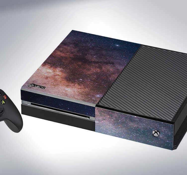 TenStickers. Galaxy Xbox Skin Stickers. Decorate your Xbox with this fantastic galactic themed console sticker! Available in 50 colours.
