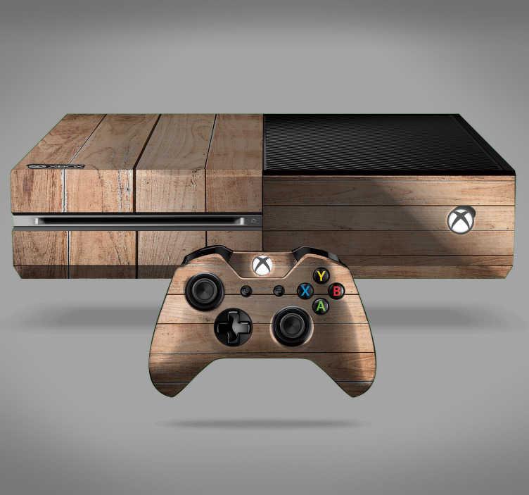 TenVinilo. Vinilo con textura madera. Fantástico vinilo adhesivo para Xbox y controladores con estampado de tablones de madera. Fácil aplicación y sin burbujas.