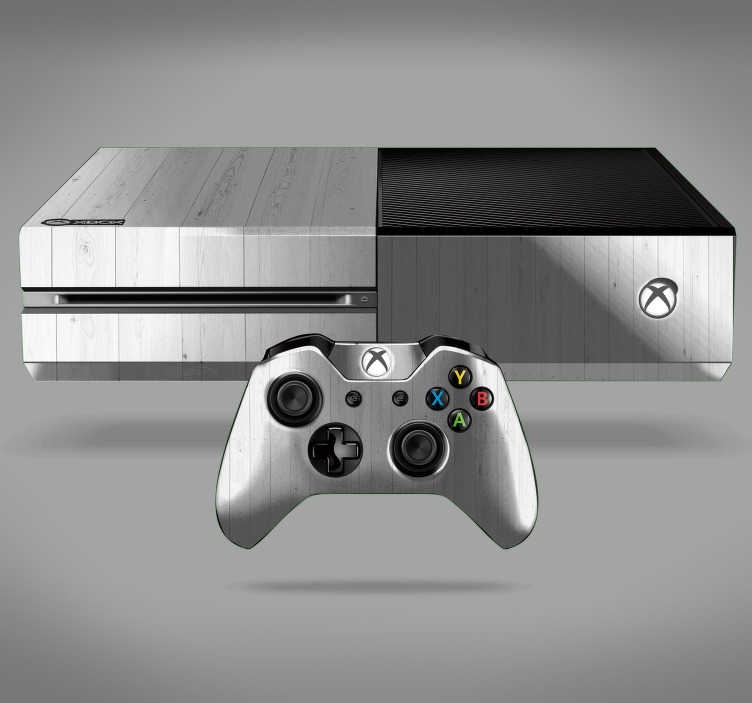 TenStickers. White Wood Texture Xbox Sticker. Furnish your room with this fantastic Xbox skin sticker, depicting white wood! Personalised stickers.