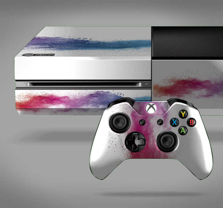 TenStickers. Colour Wave Xbox Skin Sticker. Add a splash of colour - Literally - to your Xbox with this beautiful skin sticker! +10,000 satisfied customers.
