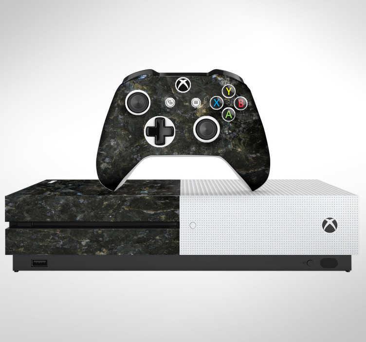 TenVinilo. Vinilo con textura mármol oscuro. Pegatina adhesiva para renovar tu Xbox y sus respectivos controladores con estampado de mármol en tonos oscuros. Atención al Cliente Personalizada.