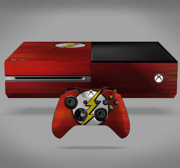 TenVinilo. Vinilo infantil relámpago Flash. Pegatina para Xbox y controladores con el diseño del logo del superhéroe Flash sobre un fondo de color rojo. Compra Online Segura y Garantizada.