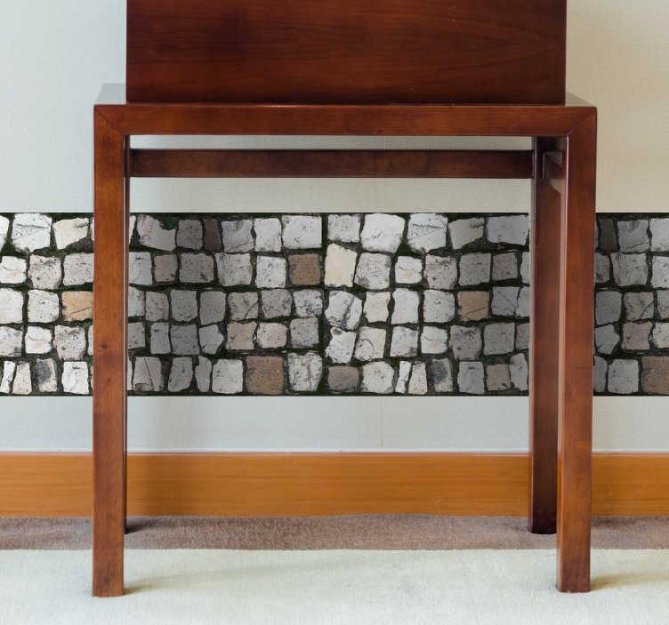 TenStickers. Autocolantes quarto de dormir calçada. Vinil decorativo para casa. Ideal para decorar de uma forma rápida e simples.