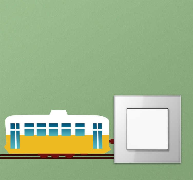 TenStickers. Naklejka na włącznik światła pociąg. Myślałeś kiedyś o udekorowaniu włącznika na światło? Nie? Przecież to niesamowity pomysł! Ta naklejka przedstawia pociąg jadący w kierunku włącznika światła! Wyprzedaż się kończy, zamów taniej teraz!