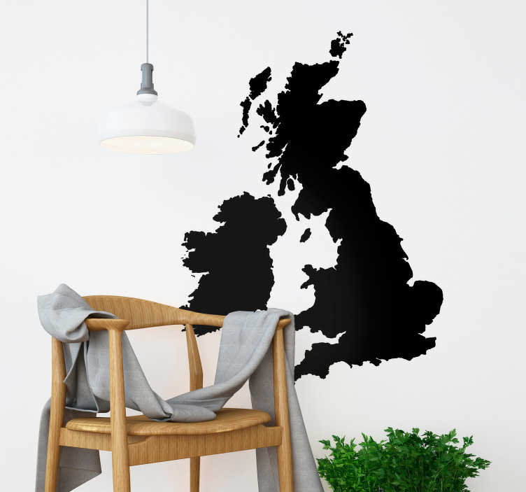 TenStickers. Monocolour UK Map Wall Sticker. Add a UK map to your wall thanks to this fantastic monocolour wall sticker! Discounts available.