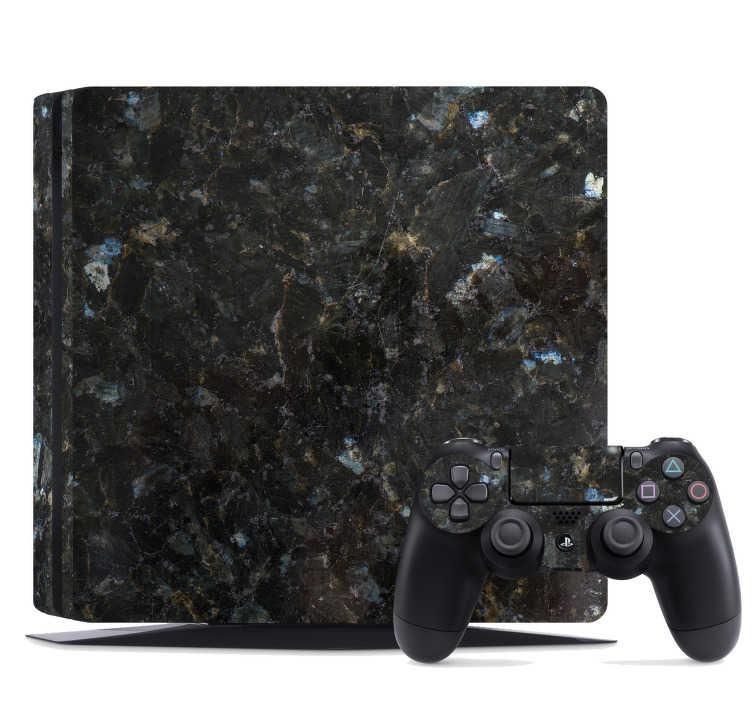 TenVinilo. Vinilo con textura marmol oscuro ps4. Elegante pegatina adhesiva para PS4 y controladores con textura de mármol en tonos oscuros ideal para renovar tu dispositivo. +50 Colores Disponibles.