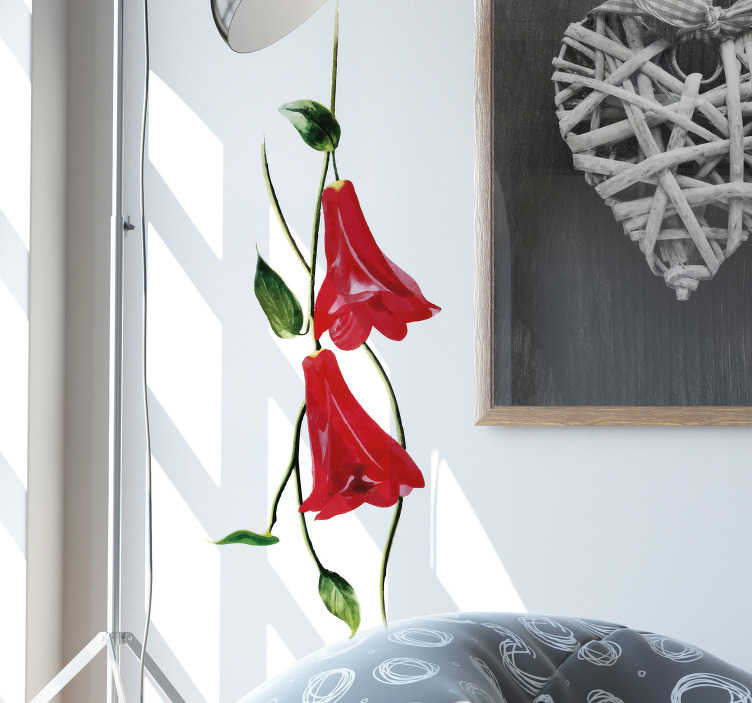 TenStickers. Chilean Bell Flower Wall Sticker. Decorate your wall with this fantastic art sticker, depicting the Chilean Bell Flower! Anti-bubble vinyl.