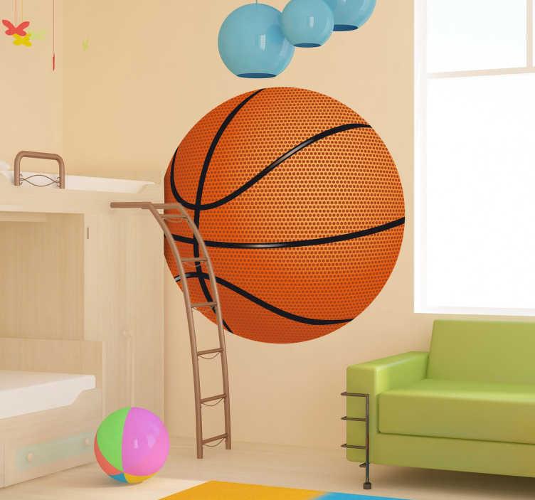 TenStickers. Basketball væg kids klistermærke. Kids klistermærker - tilføj en sporty touch til ethvert værelse med dette kurv design. Ideel til fans og sportsforeninger.