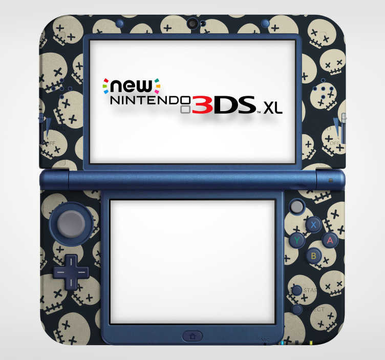 TenStickers. Skull Nintendo Skin Sticker. Add some skulls to your Nintendo with this fantastic Nintendo skin sticker! Easy to apply.