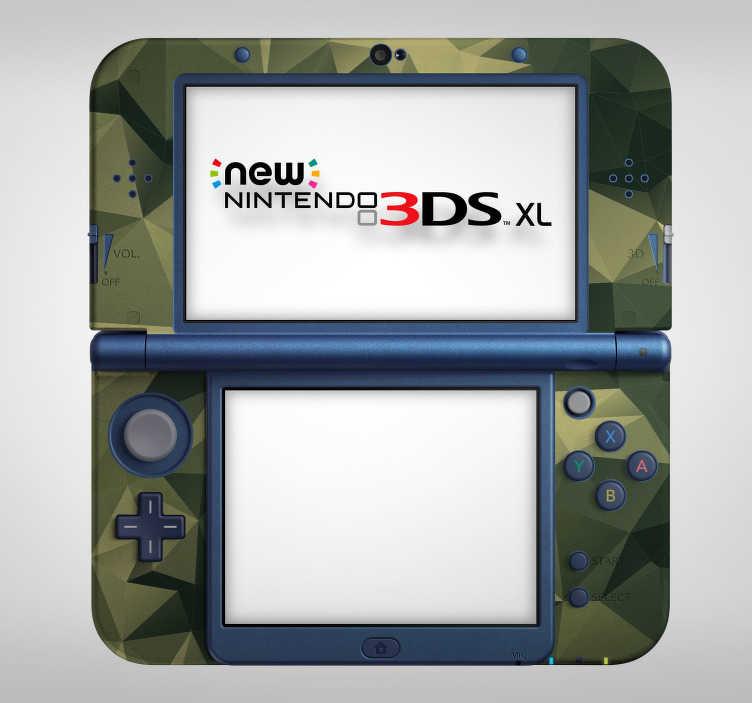 TenVinilo. Vinilo con textura camuflaje nintendo. Original vinilo adhesivo ideal para renovar tu Nintendo, con un estampado de camuflaje en formas geométricas. Fácil aplicación y sin burbujas.