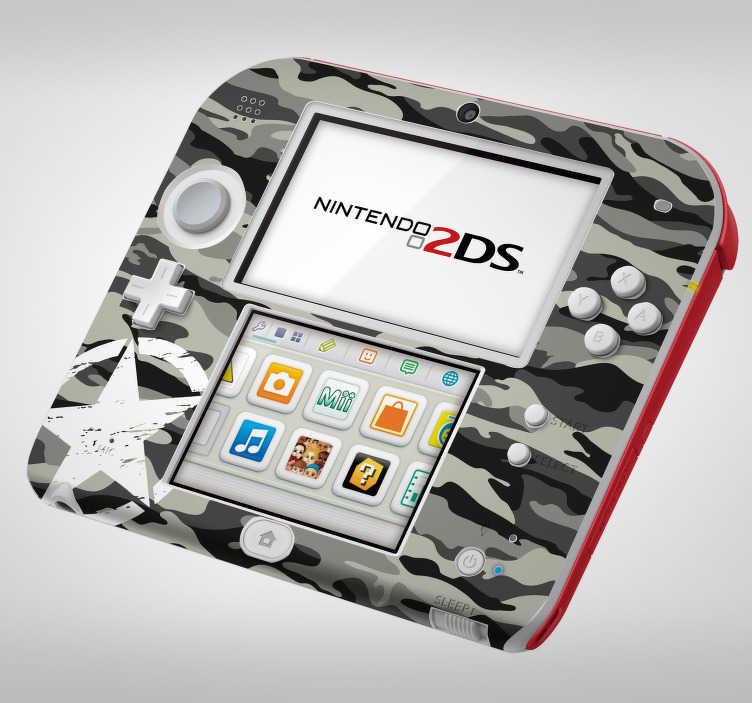 TenVinilo. Vinilo con textura camuflaje urbano nintendo. Fantástica pegatina adhesiva para Nintendo con estampado de camuflaje en tonos grises, blancos y negros. Compra Online Segura y Garantizada.