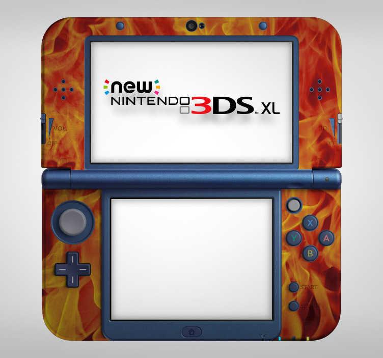 TenStickers. Nintendo sticker vlammen. Decoreer de Nintendo middels deze Nintendo sticker die vlammen afbeeldt en val op tussen alle andere gamers. Snelle klantenservice.