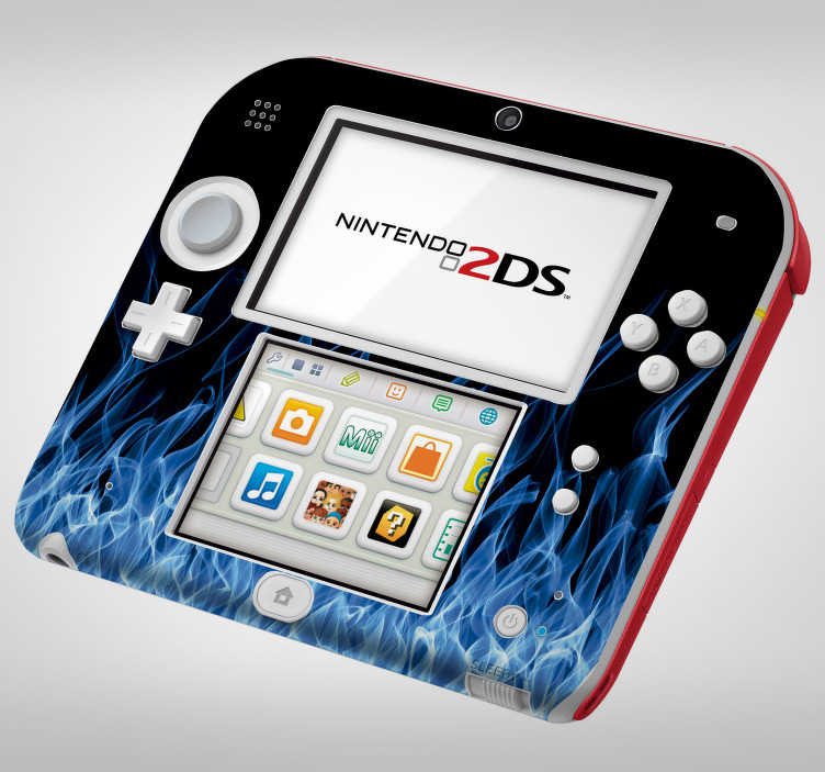 TenVinilo. Vinilo con textura llamas azules nintendo. Original pegatina adhesiva para renovar completamente el aspecto de tu Nintendo con estampado de llamas en tonos azules. Envío Express en 24/48h.