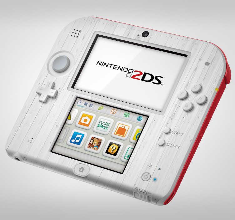 TenStickers. Sticker Texture du Bois Blanc Nintendo. Découvrez notre nouvelle collection de sticker Nintendo pour vous aider à personnaliser votre console d'une manière originale et personnelle.