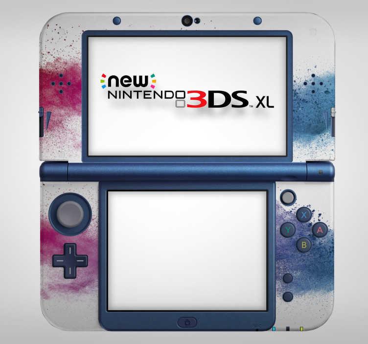 TenStickers. Sticker Abstrait Éclaboussures pour Nintendo. Découvrez une nouvelle façon de décorer votre console comme vous le souhaitez avec notre sticker éclaboussures pour votre Nintendo. Application Facile.