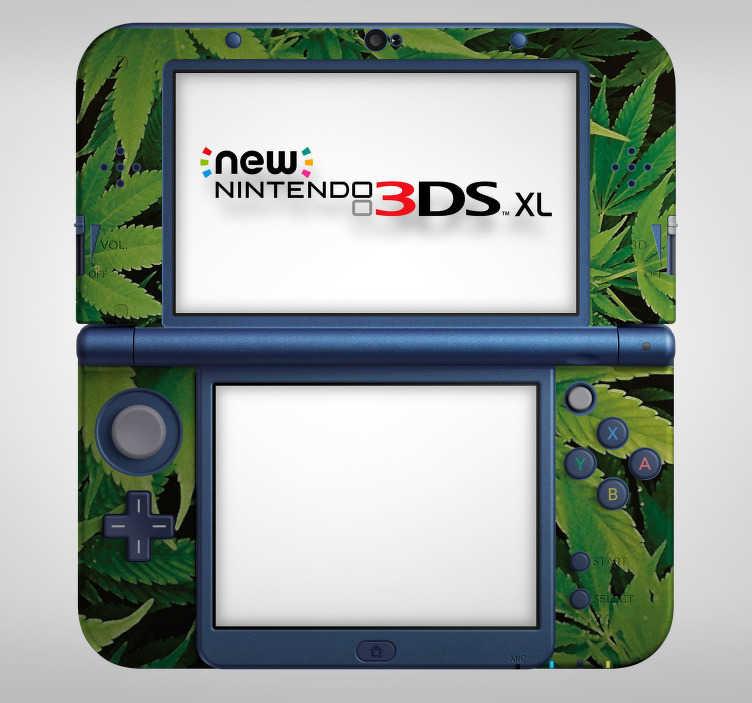 TenVinilo. Vinilo planta marihuana nintendo. Colorida pegatina adhesiva de gran calidad ideal para renovar tu Nintendo con el diseño de la planta de la marihuana. +50 Colores Disponibles.