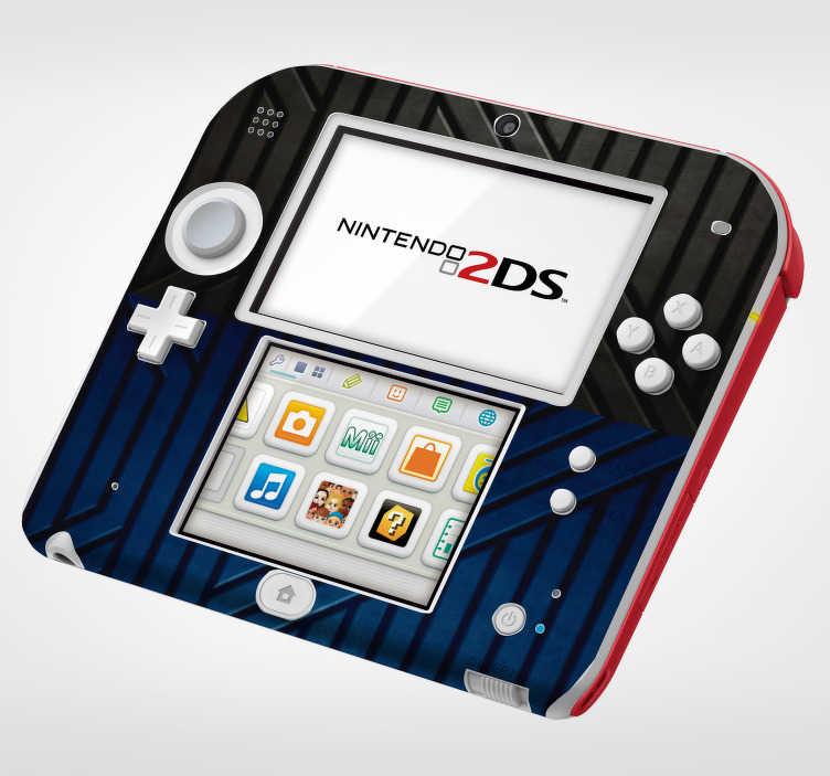 TenVinilo. Vinilo con textura metálica nintendo. Original vinilo adhesivo de estilo industrial para Nintendo con textura metálica en tonos azules y negros. Compra Online Segura y Garantizada.