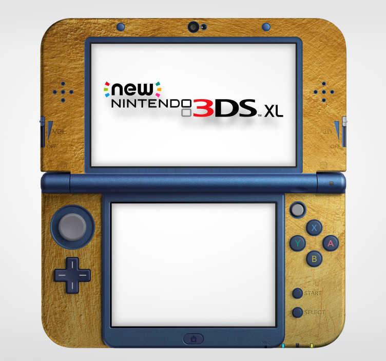 TenStickers. Nintendo sticker gouden textuur. Decoreer de Nintendo met deze Nintendo sticker die een gouden textuur afbeeldt en val op tussen de andere gamers. Dagelijkse kortingen.