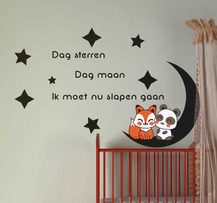 TenStickers. go to bed nursery rhyme decal. An illustrative nursery rhyme wall decal to decorate the bedroom space of children. It is available in different colours and size options.