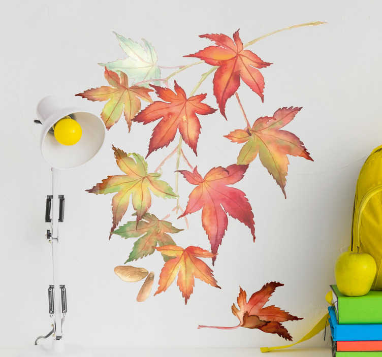 TenStickers. Japanese Maple Leaves Wall Sticker. Pay tribute to the Japanese maple tree with this fantastic wall art sticker! Sign up for 10% off.