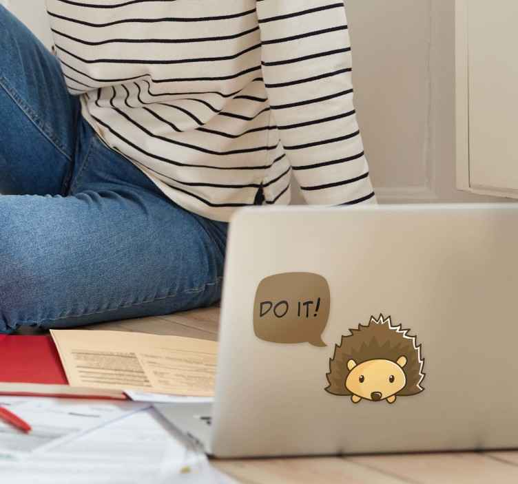TenStickers. Do It Laptop Sticker. Motivate yourself to get things done with this superb laptop sticker! Zero residue upon removal.