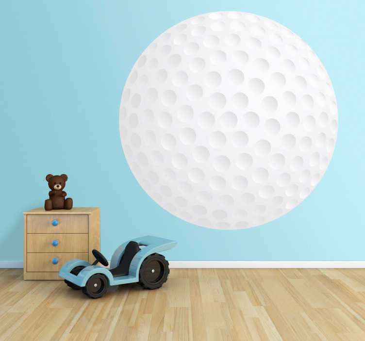 TenStickers. Golf Ball Wall Kids Sticker. Kids Stickers - Add a sporty touch to any room with this golf ball illustration. Great for decorating kids´rooms.