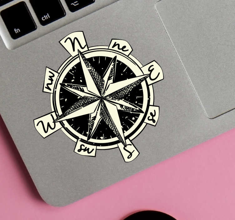 TenStickers. Compass Laptop Sticker. If you love to travel, then this laptop sticker is perfect for you! Easy to apply.