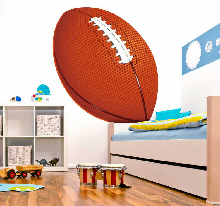 TenStickers. American Football Wall Sticker. Sports Stickers - Large American football design. Choose a size of your choice.Ideal for decorating bedrooms & sports-related organisations.