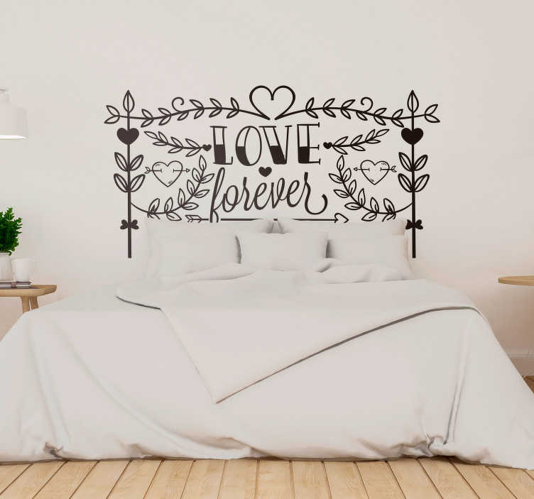 TenStickers. Love Forever Wall Text Sticker. Show that your love really does last forever with this fantastic romantically inspired wall text sticker! Personalised stickers.