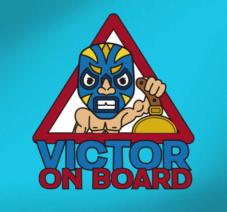 TenStickers. Baby Wrestler Vehicle Sticker. If your child loves wrestling then he is sure to be a huge fan of this vehicle sticker, depicting a child dressed as a wrestler!