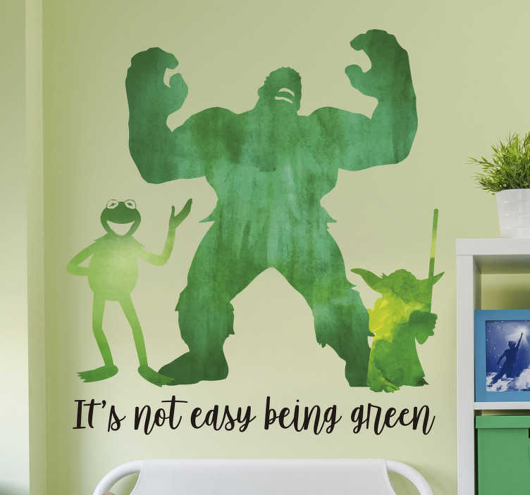 Sesame Street Green Quote Wall Sticker