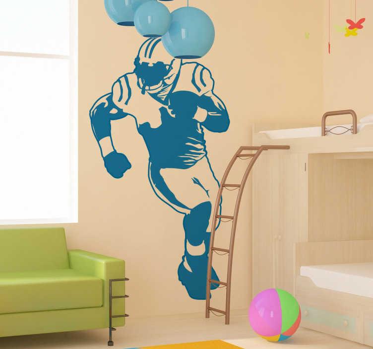 Adesivo murale giocatore football americano