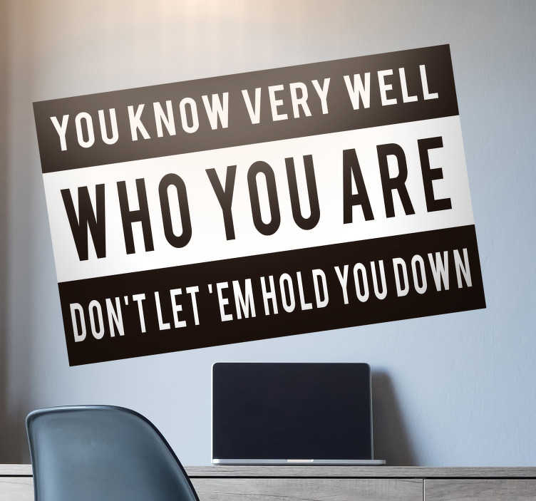 TenStickers. Notorious BIG Lyric Text Sticker. Decorate your wall with this fantastic motivational quote from the Notorious BIG! Perfect for bedrooms across the world! Personalised stickers.
