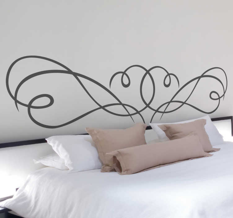 TenStickers. Filigree Bedroom Headboard Sticker. A creative and original headboard sticker to make your bed stand out. A great decal to give your bedroom a touch of your own.