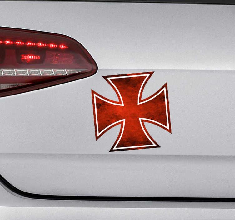 TenVinilo. Vinilo motor cruz de hierro. Pegatina adhesiva para vehículo con el diseño de la Cruz de Hierro, la cual se concedía por actos de valentía. +10.000 Opiniones satisfactorias.