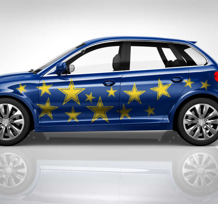 TenStickers. Naklejka na samochód zbiór gwiazd. Naklejka na samochód, przedstawiająca zbiór gwiazd, które wyróżnią Twój samochód z tłumu! Codziennie nowe projekty!