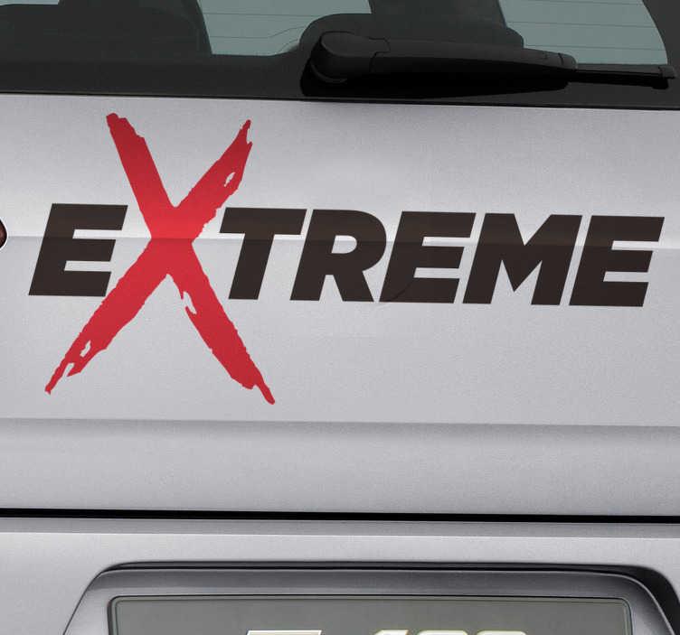 """TenVinilo. Vinilo motor tuning extreme. Original vinilo adhesivo para vehículo formado por la palabra """"EXTREME"""" con un toque de color. Compra Online Segura y Garantizada."""