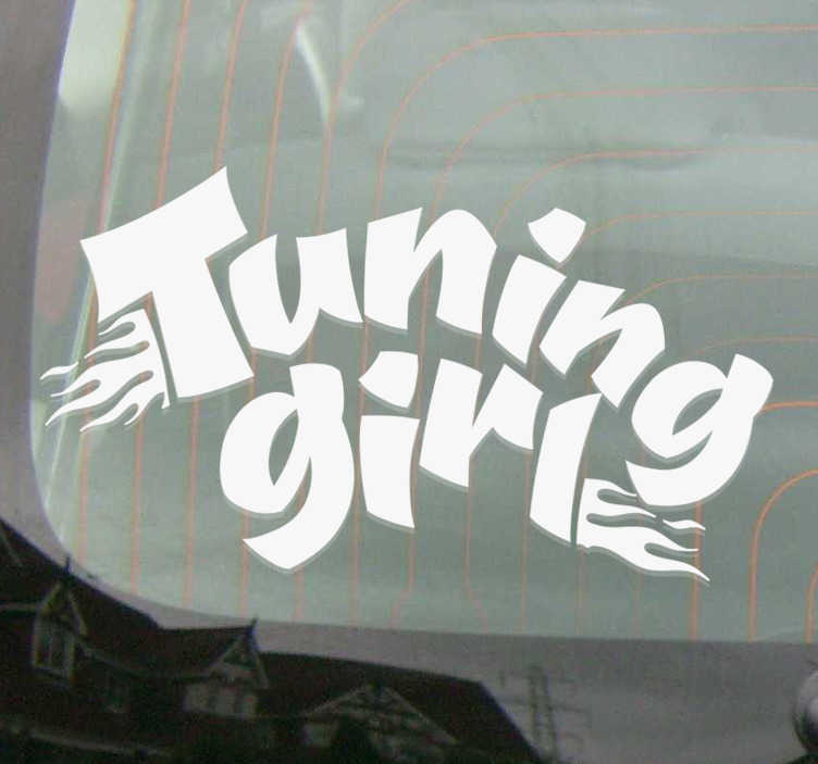 TenStickers. tuning girl Car Decal. Decorative car sticker with a ''turning girl'' text  design. Easy to apply and available in different sizes and colours option.