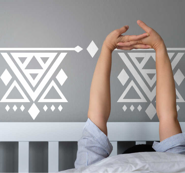 TenStickers. Ethnic Abstract Sticker. Ethnic Abstract wall Sticker for home decoration. Available in different colours and size options. Easy to apply and self adhesive.