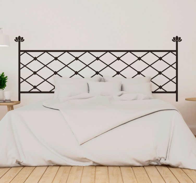 TenStickers. Sticker Maison Formes Géométriques. Votre tête de lit est désespérément vide ? Optez donc pour cet autocollant tête de lit aux motifs originaux et modernes !