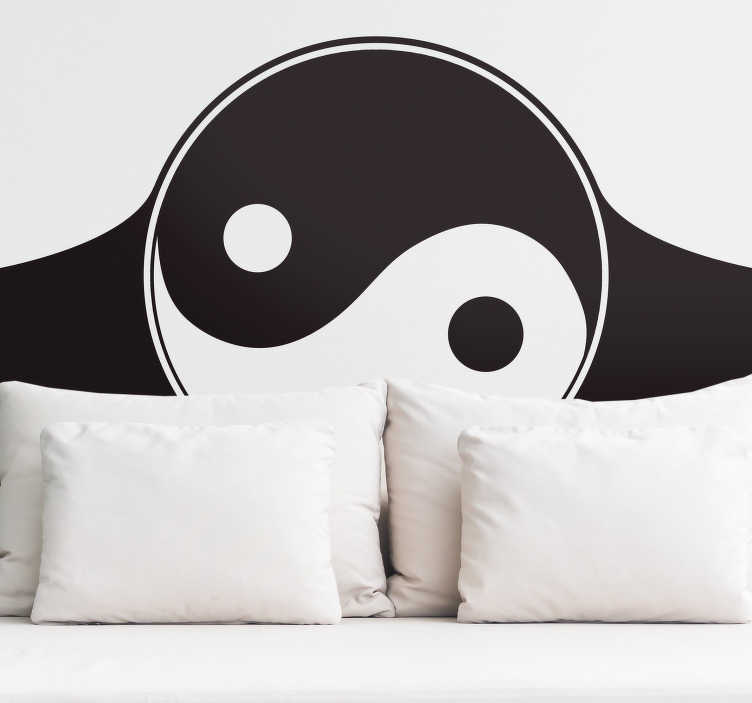 TenStickers. Yin Yang Home Headboard Sticker. Pay tribute to the yin and yang nature of your relationship with this fantastic Chinese inspired headboard sticker! Discounts available.