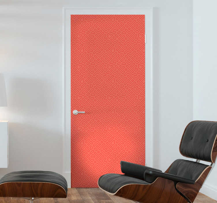 TenStickers. color coral glass door sticker. Beautiful coral colour door sticker to decorate any door surface. It is available in any required size. Easy to apply and self adhesive.